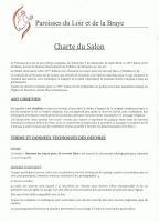 CHARTE  DU SALON ART CHRETIEN MONTOIRE ,  PRESBYTERE DE MONTOIRE SUR LOIR 10 ème - SALON D'ART CHRETIEN